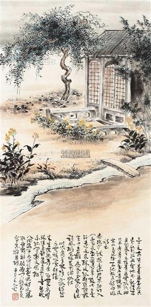 老宅 立轴 纸本 - 11280 - 中国书画 - 2012迎春艺术品拍卖会 -收藏网