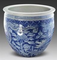 青花龙穿花纹画缸 -  - 古董珍玩 - 2011春季艺术品拍卖会 -收藏网