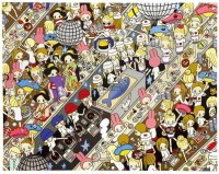 女孩@旋转俱乐部寿司 压克力 画布 -  - 当代美术 西洋美术 - 2011秋季伊斯特香港拍卖会 -收藏网