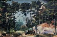 风景 布面油画 - 116163 - 绍晋斋暨立派艺术中心藏中国油画、雕塑、水彩 - 2006冬季艺术品拍卖会 -收藏网