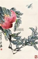 寿桃蜻蜓 立轴 设色纸本 - 2675 - 中国书画 - 2011 春季艺术精品拍卖会 -中国收藏网