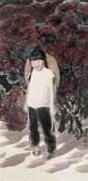 美好童年 立轴 设色纸本 - 5448 - 中国当代水墨 - 2006秋季拍卖会 -收藏网