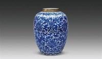 青花缠枝莲纹罐 -  - 瓷器 - 嘉德四季第二十六期拍卖会 -收藏网