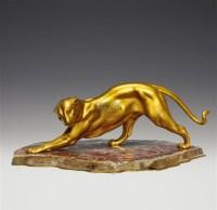 MELLERIO PARIS 镀金铜制美州豹 -  - 装饰美术 - 2011秋季伊斯特香港拍卖会 -收藏网