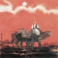 西域风情 镜心 设色纸本 - 马西光 - 中国书画 - 2006秋季拍卖会 -收藏网