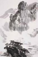 宁河晨渡 立轴 设色纸本 - 杨达林 - 中国书画一 - 2008迎春艺术品拍卖会 -中国收藏网