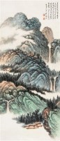 蜀山小景 立轴 设色纸本 - 127738 - 中国书画 - 2007年秋季大型艺术品拍卖会 -中国收藏网