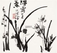 漫写王兰 镜心 设色纸本 - 139807 - 中国书画一 - 2011首届大型书画精品拍卖会 -中国收藏网
