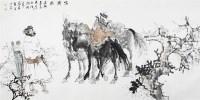 猎骑图 镜心 设色纸本 -  - 当代书画名家精品专场 - 2008春季拍卖会 -收藏网