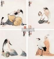 风骨堂人物 镜心 设色纸本 - 戴卫 - 中国当代书画 - 2006秋季艺术品拍卖会 -中国收藏网