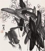 花鸟 立轴 水墨纸本 - 卢坤峰 - 中国书画 - 2005年艺术品拍卖会 -收藏网