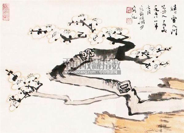 梅花 镜片 纸本 - 116006 - 老油画·中国书画·新钢笔画 - 2011春季图片