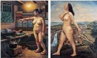 2000年作 夜晚的灯光 大地之女 - 140648 - 油画 水彩画 - 2007年春季艺术品拍卖会 -收藏网