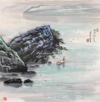 山水 镜心 设色纸本 - 苗重安 - 中国书画 - 第117期月末拍卖会 -中国收藏网