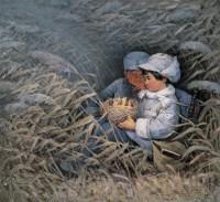 肖峰 宋韧 1979年作 小八路 布面 油画 -  - 中国当代油画 - 2006首届中国国际艺术品投资与收藏博览会暨专场拍卖会 -收藏网