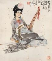 荷前清影 镜心 设色纸本 - 颜梅华 - 中国书画(二) - 2006秋季大型艺术品拍卖会 -收藏网