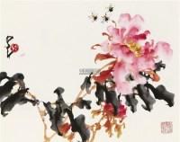 蜂拥富贵 镜片 纸本 - 135045 - 中国书画专场 - 2011金秋艺术品拍卖会 -收藏网