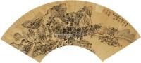 秋山幽居图 扇面 金笺水墨 -  - 中国书画(一) - 2011春季拍卖会 -中国收藏网