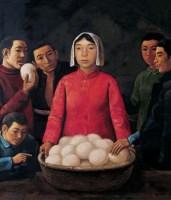 蒸得好馍 布面  油画 - 段建伟 - 现代中国艺术 - 2006秋季拍卖会 -收藏网