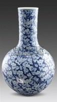 青花瓜瓞绵绵天球瓶 -  - 古董珍玩 - 2011春季艺术品拍卖会 -收藏网
