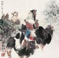 西域引驼 镜心 设色纸本 - 117502 - 中国书画专场 - 2008第三季艺术品拍卖会 -收藏网