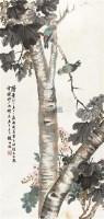秋树双雀 立轴 设色纸本 - 赵叔儒 - 中国近现代书画(二) - 2011秋季艺术品拍卖会 -收藏网