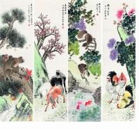 金梦石(1869-?)  花鸟四屏 - 金梦石 - 中国近现代书画专场 - 2007年秋季拍卖会 -收藏网