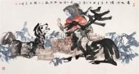 塞外风情 镜心 设色纸本 - 119573 - 中国书画 - 第55期中国艺术精品拍卖会 -收藏网