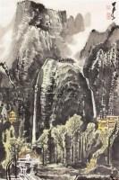 山水 镜片 纸本 - 李可染 - 中国书画(一) - 庆二周年秋季拍卖会 -中国收藏网