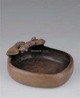 荷叶金鱼石雕洗 -  - 瓷器玉器工艺品 - 2005青岛夏季艺术品拍卖会 -收藏网