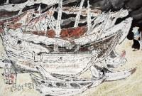 淡淡的浮云 镜心 设色纸本 - 133499 - 中国油画 闽籍书画 中国书画 - 2008秋季艺术品拍卖会 -中国收藏网