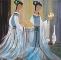 仕女 镜框 设色纸本 - 林风眠 - 中国书画 - 2011年迎春拍卖会 -收藏网