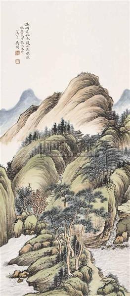 山水 立轴 设色纸本 - 55937 - 中国书画(一) - 2006金秋拍卖会 -收藏网