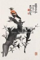 花鸟 镜心 设色纸本 - 116015 - 中国书画 - 2008秋季艺术品拍卖会 -收藏网