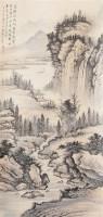 山水 立轴 设色纸本 -  - 书画杂件 - 2007迎春文物艺术品拍卖会 -中国收藏网