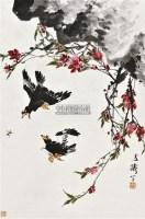 八哥争蜂 立轴 设色纸本 - 116837 - 中国书画(一) - 2011年春季拍卖会 -中国收藏网