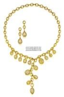 天然彩黄钻石配黄钻石项链及吊耳环 (一对) -  - 珠宝翡翠 - 2010年春季拍卖会 -收藏网