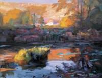 金色池塘 布面油彩 -  - 中国油画(二) - 2006年中国艺术品春季拍卖会 -收藏网