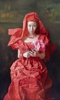 红纸新娘·祈 布面 油画 - 曾传兴 - 中国油画雕塑 - 2011春季拍卖会 -收藏网