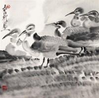鸭子 立轴 水墨纸本 - 116217 - 中国书画 - 2011首场艺术品秋季拍卖会 -收藏网