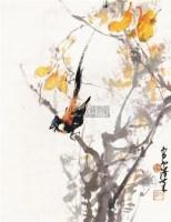 枝头小鸟 立轴 设色纸本 - 135045 - 中国书画 - 2010年春季拍卖会 -收藏网