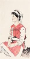 人物 立轴 纸本 - 116126 - 文物商店友情提供 - 庆二周年秋季拍卖会 -收藏网