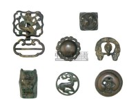 SEVEN SMALL BRONZE FITTINGS,HAN DYNASTY AND LATER (206BC-220AD) -  - 中国进出口瓷器 - 2009秋季拍卖会(二) -收藏网