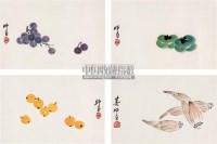 花果册页 镜心 设色纸本 - 2960 - 中国书画(二) - 2009春季大型艺术品拍卖会 -收藏网