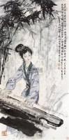 人物 立轴 纸本 - 123322 - 保真作品专题 - 2011春季书画拍卖会 -收藏网