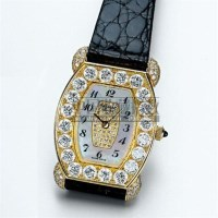 CHOPARD, A LADY'S GOLD AND DIAMOND SET TONNEAU WRISTWATCH WITH MOTHER-OF-PEARL DIAL CIRCA 1990, -  - 钟表 - 2007年秋季拍卖会 -收藏网