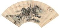 松溪泛舟 扇面 设色纸本 - 溥伒 - 中国书画(一) - 2006秋季文物竞买会 -收藏网