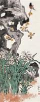江寒汀 水仙小鸟 立轴 设色纸本 - 13356 - 中国书画(一) - 2006秋季艺术品拍卖会 -收藏网