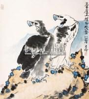 双鹰图 立轴 纸本 - 139807 - 中国当代名家书画专场 - 2011年春季艺术品拍卖会 -收藏网