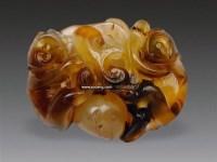 玛瑙双猴献寿坠 -  - 瓷器工艺品 - 2011夏季艺术品拍卖会 -收藏网